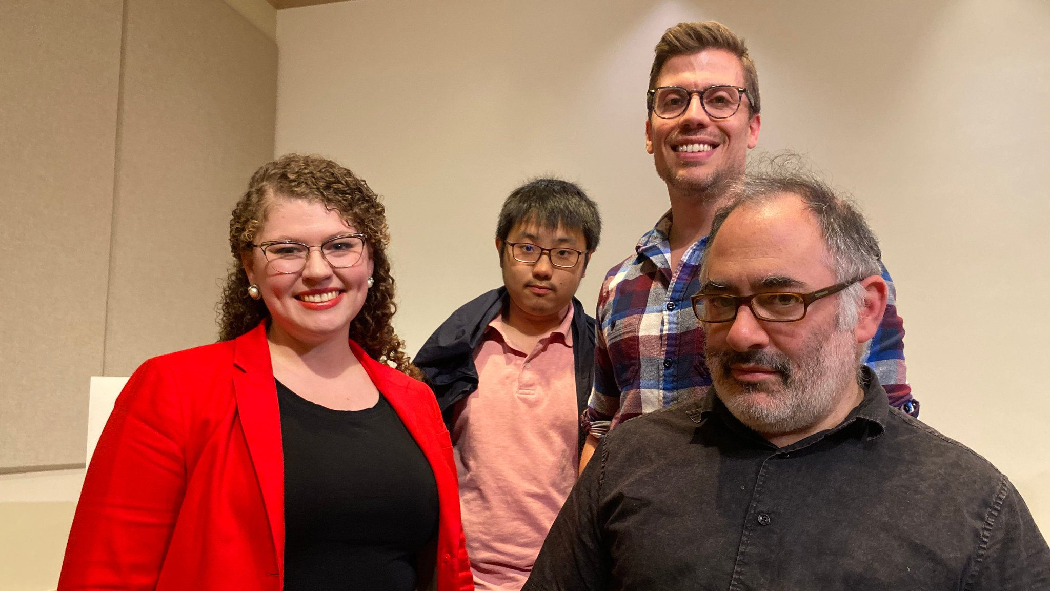 Sarah Reiff Conell, Lingdong Huang, Matthew Lincoln, and Golan Levin at the National Gallery of Art, October 25, 2019